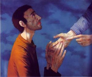 De ongelovige Thomas, van de Franse schilder Michel Ciry